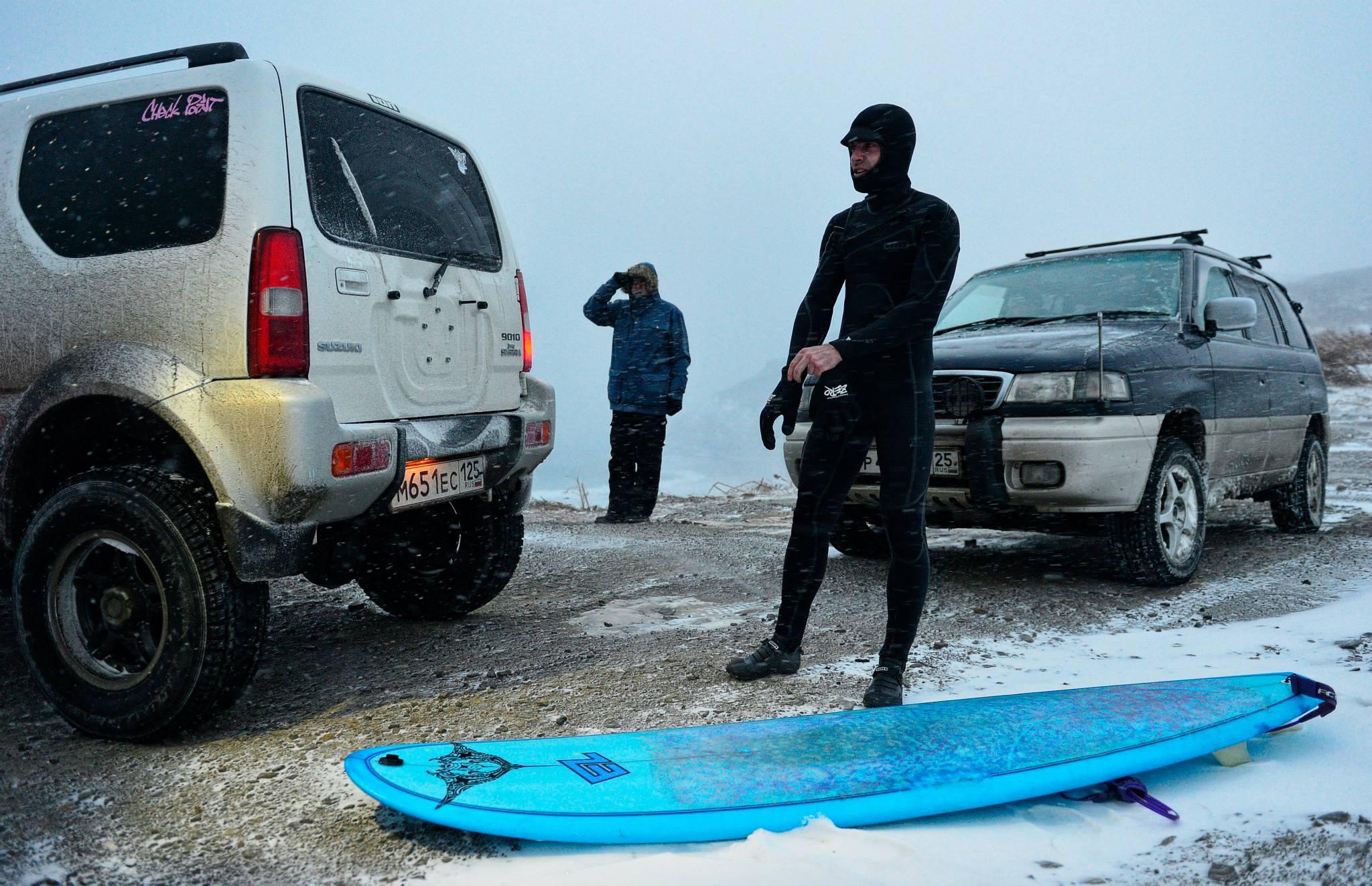 Зимний серфинг во Владивостоке на досках EZ Boards