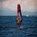 Надувная доска для серфинга SUP с веслом EZ ADVENTURE WINDSURF 2016